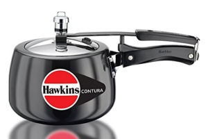 Schnellkochtopf Hawkins Contura Hard Anodized Aluminium Pressure Cooker, 3 Litres, Black -