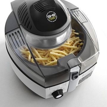 DeLonghi MultiFry Extra Chef FH1394/2 Heißluftfritteuse/Multicooker (1,7 kg Fassungsvermögen, 1.400W / 1.000W, 8 Portionen, SHS-Double-Pro, Rezepte-App) grau/weiß - 2