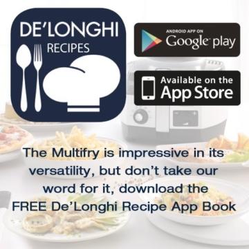 DeLonghi MultiFry Extra Chef FH1394/2 Heißluftfritteuse/Multicooker (1,7 kg Fassungsvermögen, 1.400W / 1.000W, 8 Portionen, SHS-Double-Pro, Rezepte-App) grau/weiß - 5