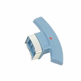 Fissler Magic Comfort Basic Seitengriff zu Schnellkochtopf, mit Anschlag, Ersatzteil, Zubehör, Blau, für Ø 22 cm, 2064700640 - 1