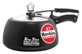 Hawkins CXT50 Contura Hard Anodized Induction Compatible Extra Thick Base Pressure Cooker, Black, 5L, 5 L - 1