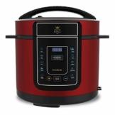 High Street TV Pressure King Pro 12-in-1 Elektrischer Schnellkochtopf, 5 Liter, 900 W, Chrom/Schwarz/Rot 5 l rot - 1