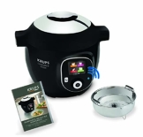 Krups CZ7158 Cook4Me+ Connect Multikocher (1600 Watt, für schnelle und frische Gerichte, 4 l Nutzvolumen, 150 vorprogrammierte Rezepte, inkl. Rezeptbuch) schwarz/Grau - 1