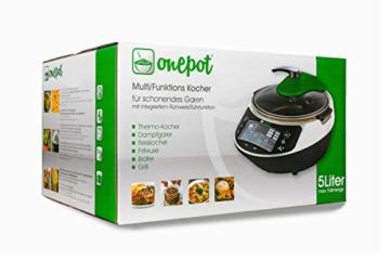 Onepot SF-1705 Multikocher / Dampfgarer / Reiskocher / Slow Cooker  / Fritteuse / Joghurtbereiter / Brotbackautomat unter einem Deckel - 2