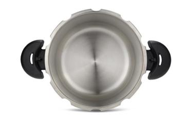 Tefal Clipso Minut Easy - Edelstahl-Schnellkochtopf mit 5 Sicherheitssystemen und Einfachem Einhandverschluss, schwarz 7,5 l bunt - 3