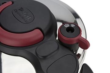 Tefal Clipso Minut Easy - Edelstahl-Schnellkochtopf mit 5 Sicherheitssystemen und Einfachem Einhandverschluss, schwarz 7,5 l bunt - 4