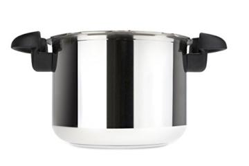 Tefal Clipso Minut Easy - Edelstahl-Schnellkochtopf mit 5 Sicherheitssystemen und Einfachem Einhandverschluss, schwarz 7,5 l bunt - 8