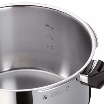 WMF Perfect Plus Schnellkochtopf 2,5l, Cromargan Edelstahl poliert, 2 Kochstufen Einhand-Kochstufenregler, induktionsgeeignet, spülmaschinengeeignet, Ø 18 cm - 2