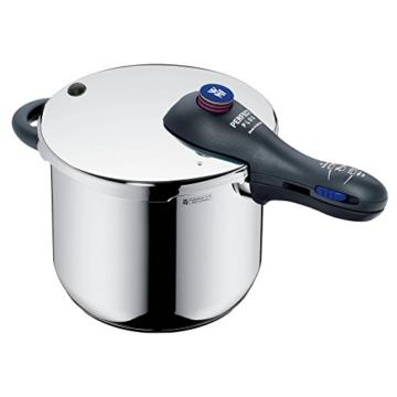 WMF Perfect Plus Schnellkochtopf Set 2-teilig 6,5l & 3,0l, Cromargan Edelstahl poliert, 2 Kochstufen Einhand-Kochstufenregler, induktionsgeeignet, spülmaschinengeeignet, Ø 22 cm - 2