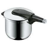 WMF Perfect Pro Schnellkochtopf 6,5l, Cromargan Edelstahl poliert, 2 Kochstufen All-In-One Drehknopf, induktionsgeeignet, spülmaschinengeeignet, Ø 22 cm - 1