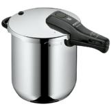 WMF Perfect Schnellkochtopf 8,5l, Cromargan Edelstahl poliert, 2 Kochstufen Einhand-Kochstufenregler, induktionsgeeignet, spülmaschinengeeignet, Ø 22 cm - 1