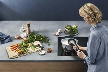 WMF Perfect Premium Schnellkochtopf Set 2-teilig 4,5l & 3,0l mit Einsatz-Set, Cromargan Edelstahl poliert, 2 Kochstufen Einhand-Kochstufenregler, induktionsgeeignet, spülmaschinengeeignet, Ø 22 cm - 6