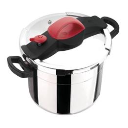 Sitram Schnellkochtopf 711164 Sitrapro mit Dämpfeinsatz, Silikon, 10 Liter, rot -