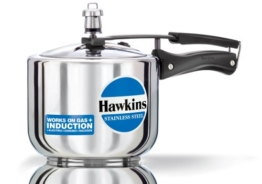 Hawkins Stainless Steel Tall Pressure Cooker, 3 Litres -
