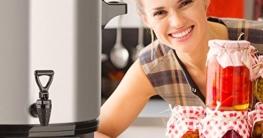 Klarstein Biggie Digital • Einkochvollautomat • Einkochtopf • elektrisch • 27 Liter • 2000 Watt • Timer • Abschaltautomatik • Display mit Zeit- und Temperatur-Anzeige • Ablaufhahn • Edelstahl • silber - 6