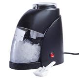 livivo® Schwarz 50W Edelstahl E-Ice Crusher mit Ice Scoop und 600ml Abnehmbare Ice Behälter–Make Up zu 300g Crushed Ice Pro Minute Knopfdruck in perfekt für Cocktails, Eis und Slush, bei ihr Zuhause bar oder Cocktail Party - 1