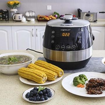 Aigostar Happy Chef 30IWY_ 7 in 1 Programmierbarer Elektrische Schnellkochtopf, Multikocher, Reiskocher und Dampfgarer Kochtopf, 24 Stunden Timer Multifunktion 5L, 900W.EINWEGVERPACKUNG. - 2