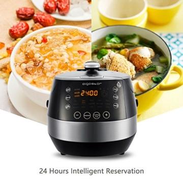 Aigostar Happy Chef 30IWY_ 7 in 1 Programmierbarer Elektrische Schnellkochtopf, Multikocher, Reiskocher und Dampfgarer Kochtopf, 24 Stunden Timer Multifunktion 5L, 900W.EINWEGVERPACKUNG. - 3