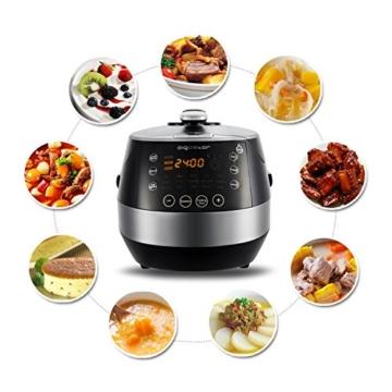 Aigostar Happy Chef 30IWY_ 7 in 1 Programmierbarer Elektrische Schnellkochtopf, Multikocher, Reiskocher und Dampfgarer Kochtopf, 24 Stunden Timer Multifunktion 5L, 900W.EINWEGVERPACKUNG. - 4