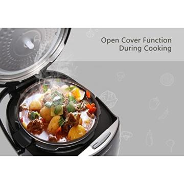 Aigostar Happy Chef 30IWY_ 7 in 1 Programmierbarer Elektrische Schnellkochtopf, Multikocher, Reiskocher und Dampfgarer Kochtopf, 24 Stunden Timer Multifunktion 5L, 900W.EINWEGVERPACKUNG. - 5