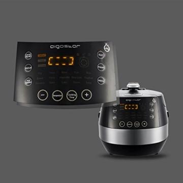 Aigostar Happy Chef 30IWY_ 7 in 1 Programmierbarer Elektrische Schnellkochtopf, Multikocher, Reiskocher und Dampfgarer Kochtopf, 24 Stunden Timer Multifunktion 5L, 900W.EINWEGVERPACKUNG. - 8