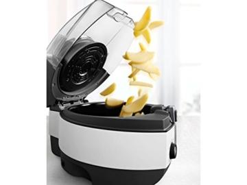 DeLonghi MultiFry Extra Chef FH1394/2 Heißluftfritteuse/Multicooker (1,7 kg Fassungsvermögen, 1.400W / 1.000W, 8 Portionen, SHS-Double-Pro, Rezepte-App) grau/weiß - 4