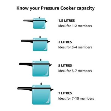 Hawkins O60 Futura O60 Pressure Cookware, 6 L, Silver - 3