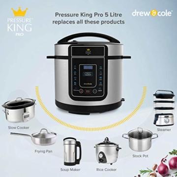 High Street TV Pressure King Pro 12-in-1 Elektrischer Schnellkochtopf, 5 Liter, 900 W, Chrom/Schwarz/Rot 5 l rot - 4