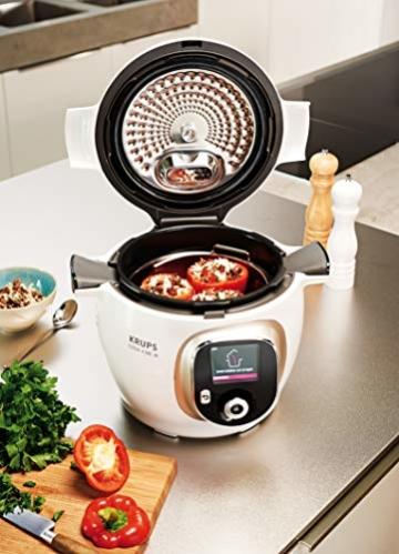 Krups Cook4Me+ CZ7101 Multikocher (Garen unter Druck für schnelle und frische Gerichte, 6 Liter Fassungsvermögen, 1.600 Watt, inkl. Rezeptbuch) weiß/grau - 3