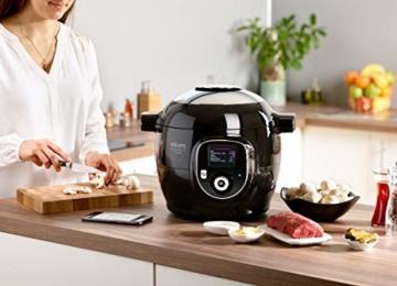 Krups CZ7158 Cook4Me+ Connect Multikocher (1600 Watt, für schnelle und frische Gerichte, 4 l Nutzvolumen, 150 vorprogrammierte Rezepte, inkl. Rezeptbuch) schwarz/Grau - 2