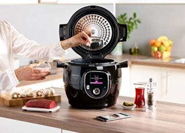 Krups CZ7158 Cook4Me+ Connect Multikocher (1600 Watt, für schnelle und frische Gerichte, 4 l Nutzvolumen, 150 vorprogrammierte Rezepte, inkl. Rezeptbuch) schwarz/Grau - 3