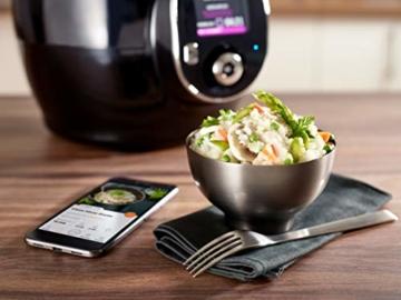 Krups CZ7158 Cook4Me+ Connect Multikocher (1600 Watt, für schnelle und frische Gerichte, 4 l Nutzvolumen, 150 vorprogrammierte Rezepte, inkl. Rezeptbuch) schwarz/Grau - 5