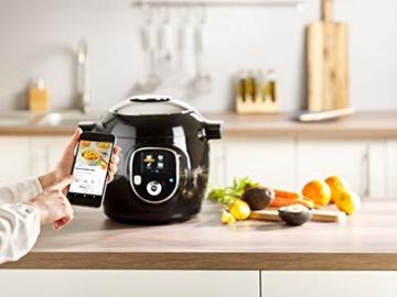 Krups CZ7158 Cook4Me+ Connect Multikocher (1600 Watt, für schnelle und frische Gerichte, 4 l Nutzvolumen, 150 vorprogrammierte Rezepte, inkl. Rezeptbuch) schwarz/Grau - 6