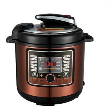 QAS 6L intelligente elektrische Schnellkochtopf Hause Multi-Funktions-Schnellkochtopf Reiskocher,Weinrot,6L - 2