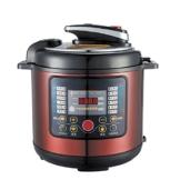 QAS 6L intelligente elektrische Schnellkochtopf Hause Multi-Funktions-Schnellkochtopf Reiskocher,Weinrot,6L - 1