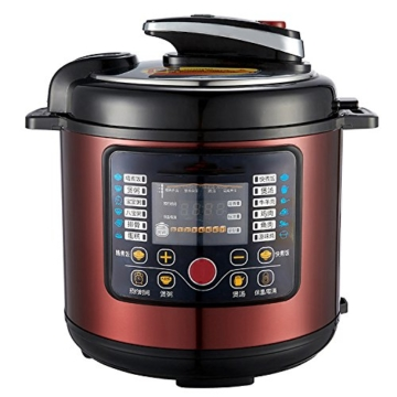 QAS 6L intelligente elektrische Schnellkochtopf Hause Multi-Funktions-Schnellkochtopf Reiskocher,Weinrot,6L - 4