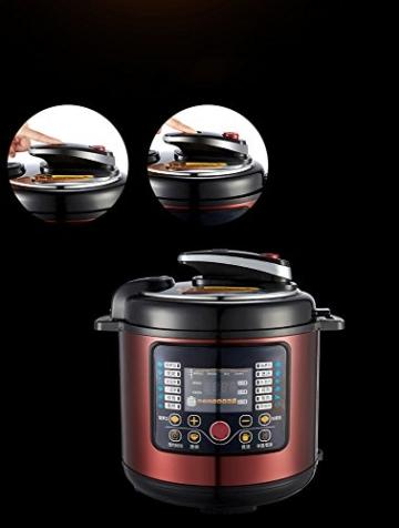 QAS 6L intelligente elektrische Schnellkochtopf Hause Multi-Funktions-Schnellkochtopf Reiskocher,Weinrot,6L - 5