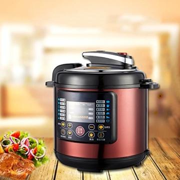 QAS 6L intelligente elektrische Schnellkochtopf Hause Multi-Funktions-Schnellkochtopf Reiskocher,Weinrot,6L - 6
