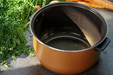 Reishunger Digitaler Reiskocher (1,5l/860W/220V) Multikocher mit 12 Programmen, 7-Phasen-Technologie, Premium-Innentopf, Timer- und Warmhaltefunktion – Reis für bis zu 8 Personen - 4