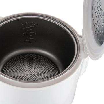 Reishunger Reiskocher (1,2l / 500W / 220V) Warmhaltefunktion, hochwertiger Innentopf, Löffel und Messbecher – Reis für bis zu 6 Personen - 4
