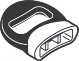 Silit Ersatzteil Topfgegengriff Schnellkochtopf Sicomatic t-plus/T/E Ø 22cm Kunststoff schwarz - 1