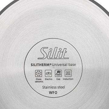 Silit Sicomatic classic Schnellkochtopf, 4,5 l, ohne Einsatz Edelstahl poliert, Innenskalierung, induktionsgeeignet, Ø 22 cm - 3