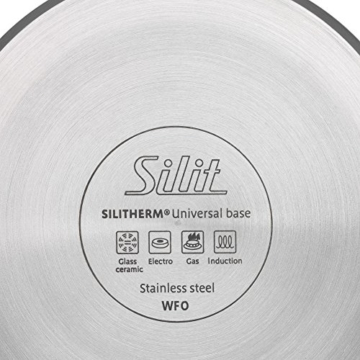 Silit Sicomatic classic Schnellkochtopf 4,5l ohne Einsatz, Silitstahl Funktionskeramik, Innenskalierung, induktionsgeeignet, spülmaschinengeeignet grau, Ø 22 cm, - 2