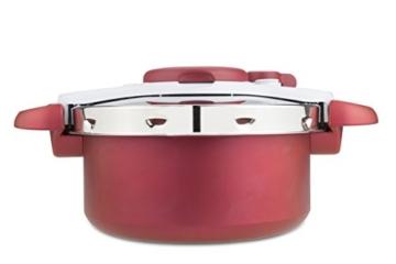 Tefal Clipso minut Duo Schnellkochtopf 5L Aluminium mit 5Sicherungssysteme und einfacher Verschluss mit einer Hand, grau und rot - 2