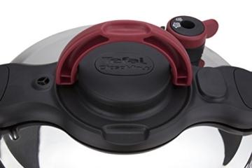 Tefal Clipso Minut Easy - Edelstahl-Schnellkochtopf mit 5 Sicherheitssystemen und Einfachem Einhandverschluss, schwarz 7,5 l bunt - 5