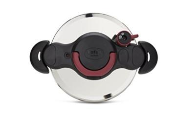 Tefal Clipso Minut Easy - Edelstahl-Schnellkochtopf mit 5 Sicherheitssystemen und Einfachem Einhandverschluss, schwarz 7,5 l bunt - 9