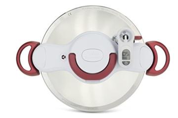 Tefal P4620733 Clipso Minut' Perfect Schnellkochtopf mit Garbkorb und Timer (6L) edelstahl/weiß/rot - 8