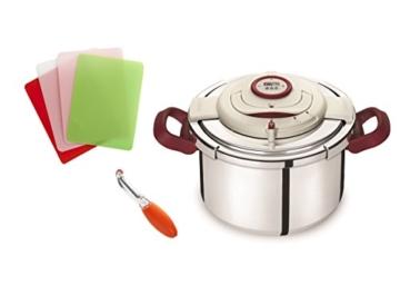 Tefal yy2981fa Schnellkochtopf Clipso Plus Genauigkeit + Gemüseschäler + 4Schneidebretter Fresh Kitchen - 1