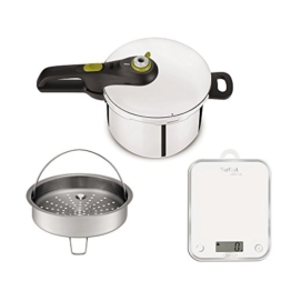 Tefal yy3081fa Schnellkochtopf Secure Neo 5und Küchenwaage, Edelstahl, Edelstahl, 45x 29x 30cm - 1