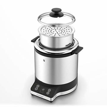 WMF KÜCHENminis Reiskocher mit Lunch-to-go-Box , Damfgarer, platzsparend, Extra To-Go-Deckel macht den Innentopf (1,0l) ohne Umfüllen zur festverschlossenen Lunchbox zum Mitnehmen, 220 W - 15